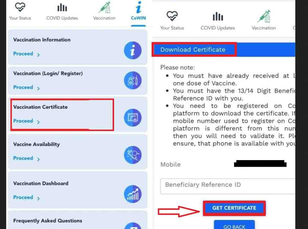 How To Download COVID Vaccine Certificate